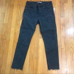 Levi's 721 vintage high rise skinny jeans black